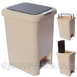 Ведро мусорное пластиковое с крышкой и педалью R85425Stenson, 10литров