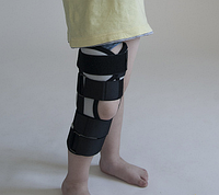 Бандаж тутор на коленный сустав универсальный детский серый Размер 1