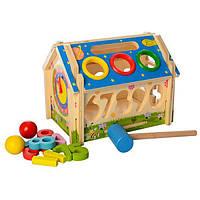 Деревянная развивающая игрушка Домик
