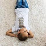 Футболка вышитая крестиком для мальчика Коричневый орнамент, фото 2