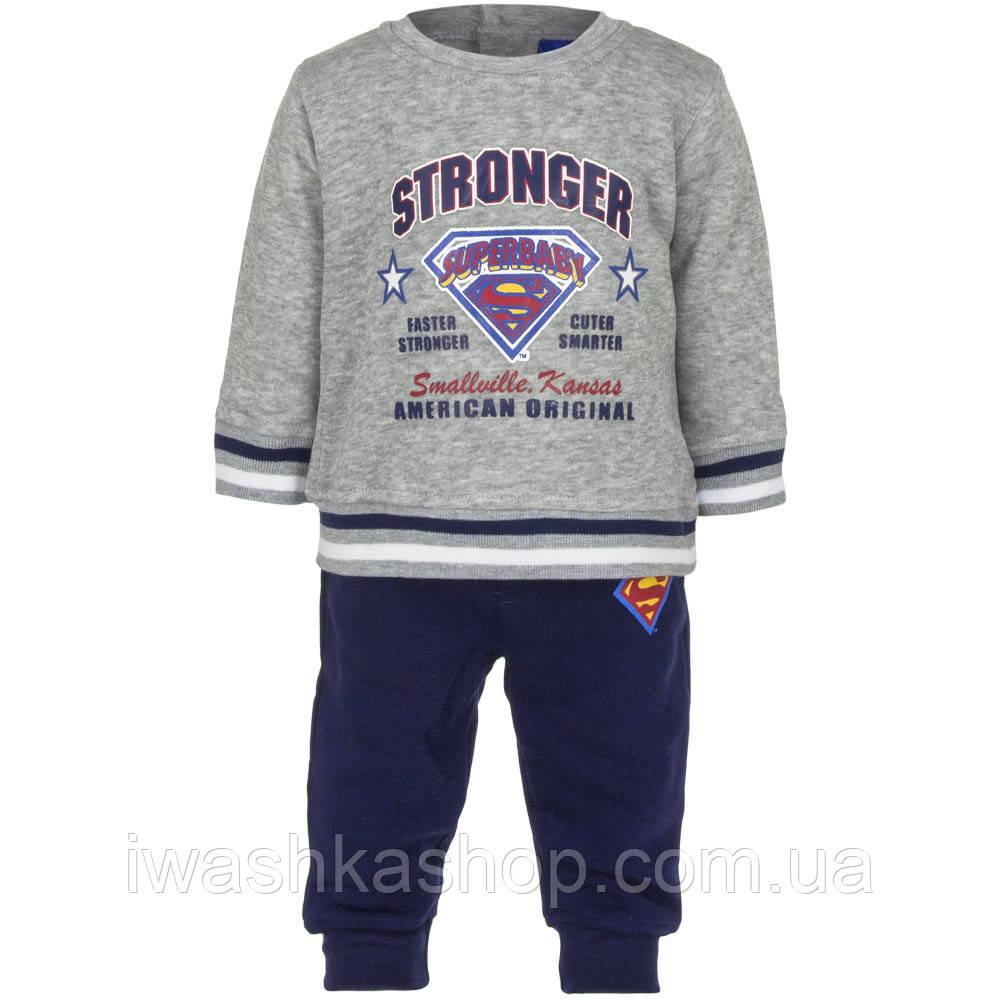Теплый спортивный костюм на мальчика, свитшот и штаны, р. 86 на 23 месяца, Warner Brothers / Superbaby