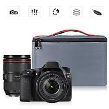 Сумка для фото-, видеокамер Case DSLR SLR с мягкой подкладкой серая, фото 3