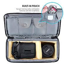 Сумка для фото-, видеокамер Case DSLR SLR с мягкой подкладкой серая, фото 2