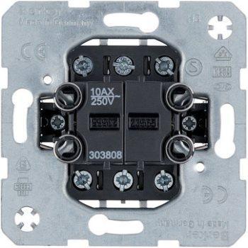 Механизм переключателя 2-клавишный универсальный, Berker 303808