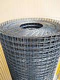 Металлическая сетка сварная 12х12 мм ячейка / 1х25 м рулон Ø 0.9 мм сечение проволоки, фото 4