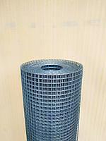 Металлическая сетка сварная 12х12 мм ячейка / 1х25 м рулон Ø 0.9 мм сечение проволоки