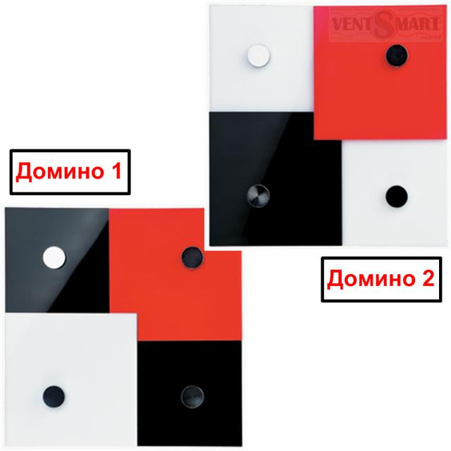 Изображения декоративных вытяжных вентиляторов ВЕНТС Домино 1 и ВЕНТС Домино 2.