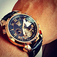 Механические часы с автоподзаводом Jaragar (black-bronze) - гарантия 12 месяцев