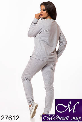 Классический спортивный костюм больших размеров (р. 48-50, 50-52, 52-54) арт. 27612, фото 2