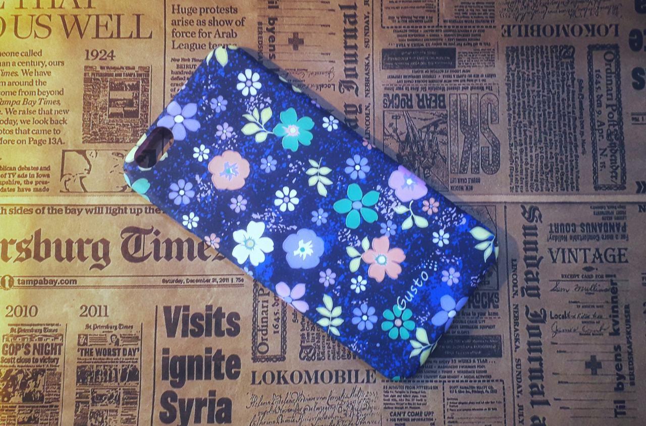 Чехол-накладка Flowersна Iphone 6 Plus, Blue