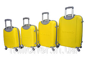 Чемодан Bonro Smile набор 4 шт. желтый, фото 2