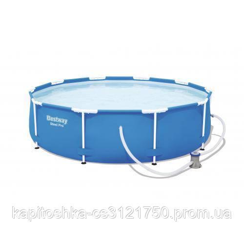 Каркасный бассейн. Диаметр 305 см. Высота 76 см. BESTWAY 56679 Steel Pro Frame Pool