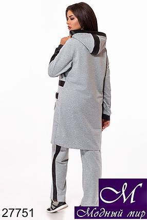 Стильный спортивный костюм больших размеров (р. 48-50, 50-52, 52-54) арт. 27751, фото 2