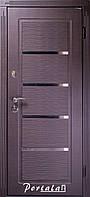 """Входная дверь """"Портала"""" (серия Премиум) ― модель Верона 2 (Черное и белое), фото 1"""