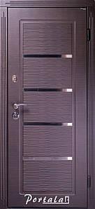 """Входная дверь """"Портала"""" (серия Премиум) ― модель Верона 2 (Черное и белое)"""