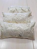 Комплект подушек парча завитки с золотом, 3шт