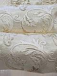Комплект подушек парча завитки с золотом, 3шт, фото 2