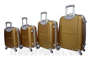 Чемодан Bonro Smile набор 4 шт. золотой, фото 2