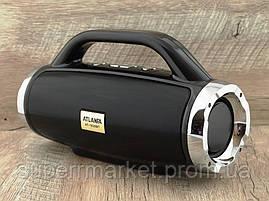 Atlanfa AT-1829bt BoomBox 12W, портативная колонка с Bluetooth FM и MP3, черная, фото 2