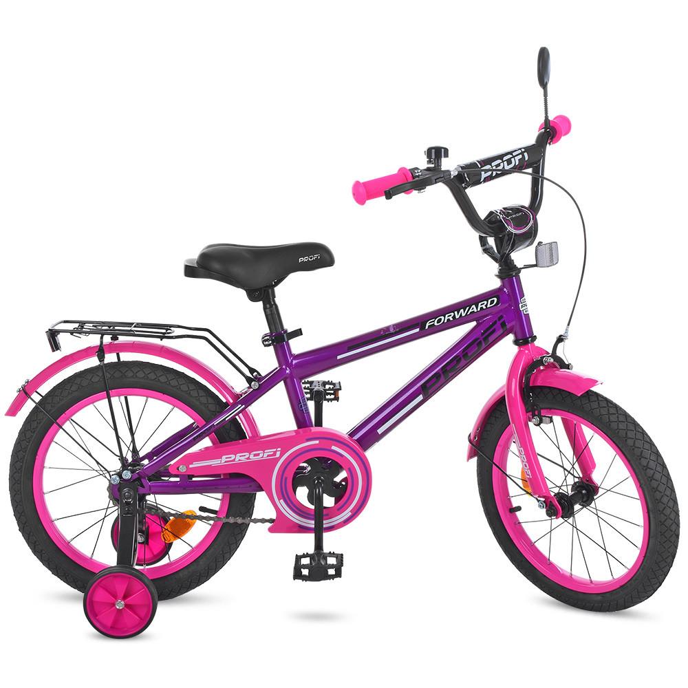 Велосипед дитячий PROF1 14д. T1477 Фіолетовий