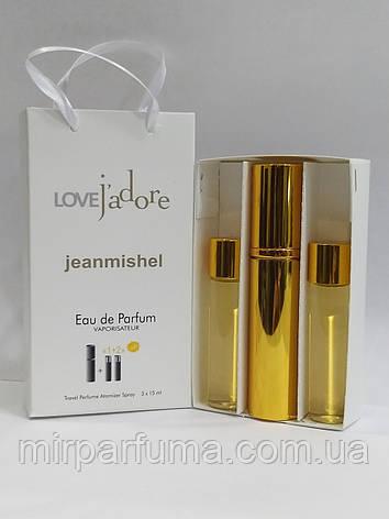 Набір міні духів jeanmishel Love J'adore 45ml для жінок, фото 2