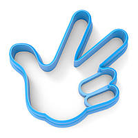 Вырубка для пряников Фиксик лого (рука) 6*6 см (3D)