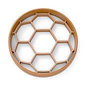 Вырубка для пряников Футбольный мяч 6*6 см (3D)