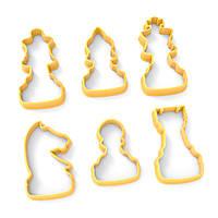 Набор вырубок для пряников Шахматные фигуры 5-7см*3,5см (3D)