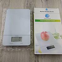 Весы Digital Kitchen Scale электронные кухонные сенсорные кнопки до 5 кг