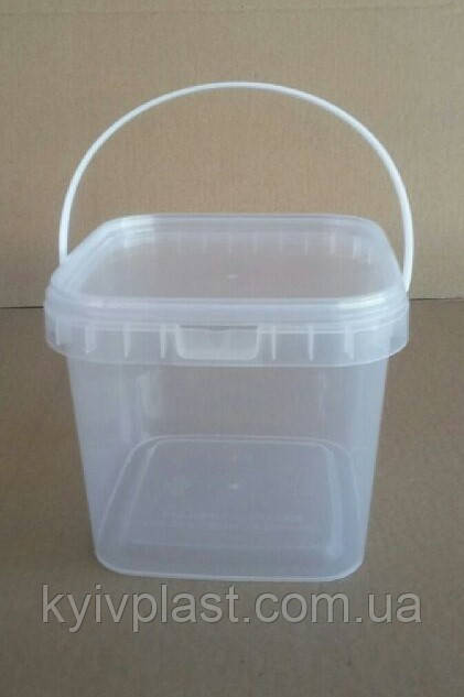 Пластиковая тара для меда 1л квадратное