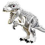 Динозавр лего юрского мира индоминус,тиранозавр рекс+сфера+подарок, фото 4