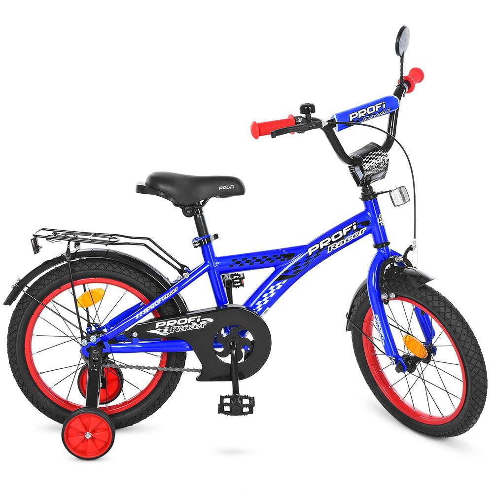 Велосипед дитячий PROF1 14д. T1433 Синій