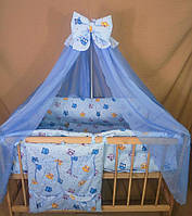 Набор постельного белья в детскую кроватку для новорожденных ( комплект 8 предметов)