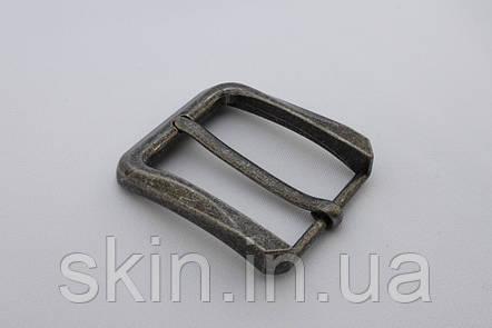 Пряжка ременная, цвет - старое серебро, ширина 40 мм, артикул СК 5097, фото 2