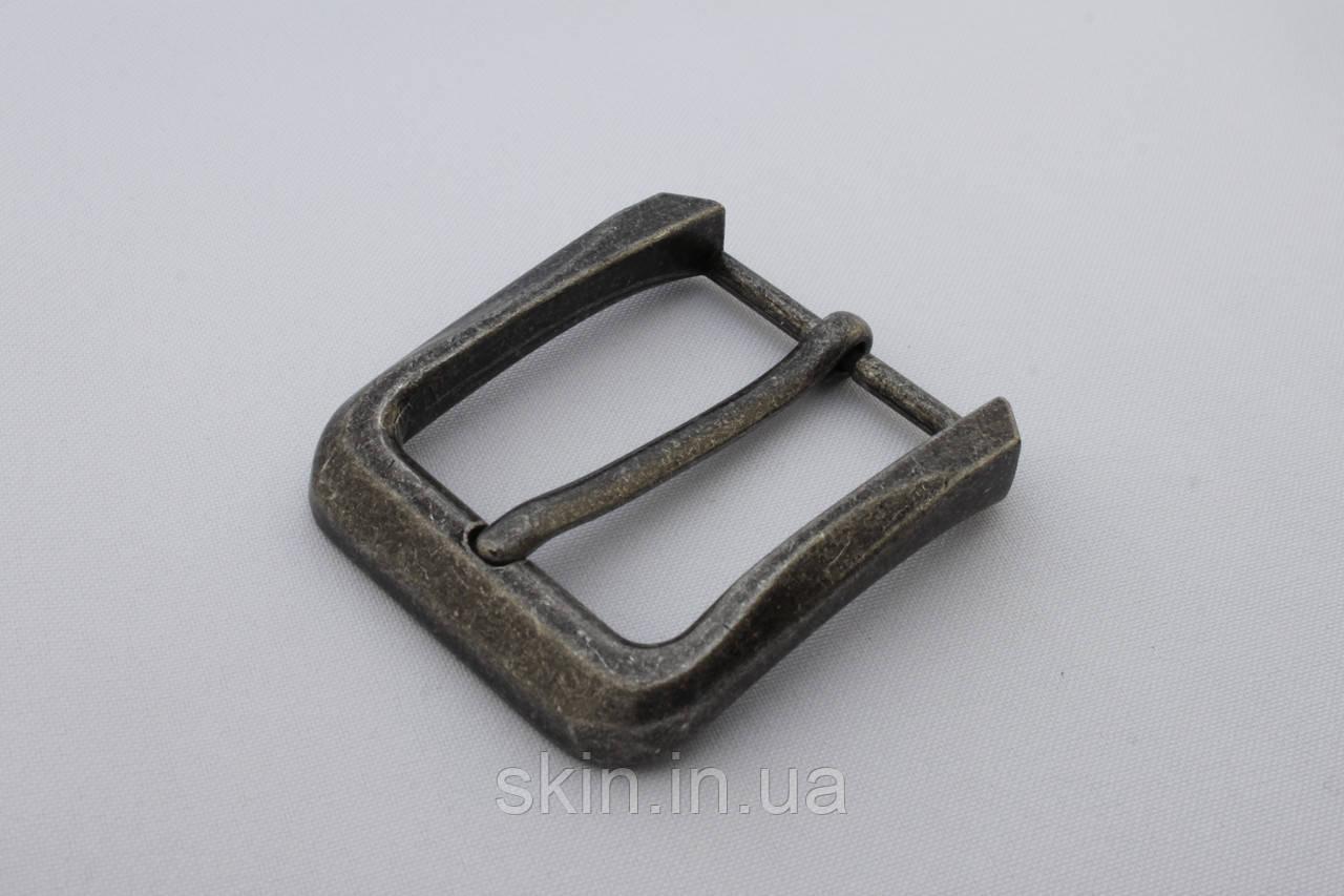 Пряжка ременная, цвет - старое серебро, ширина 40 мм, артикул СК 5097