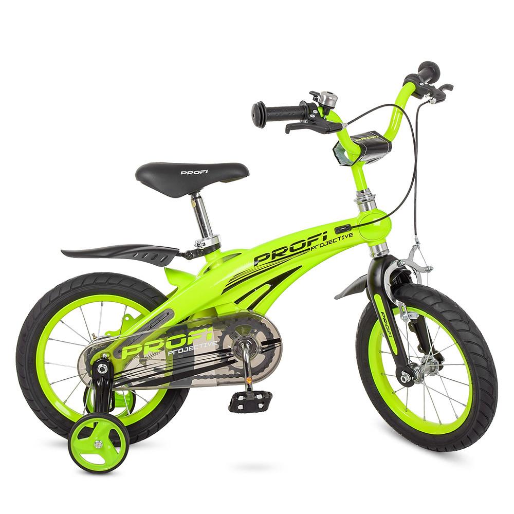 Велосипед детский PROF1 14д. LMG14124 Салатовый