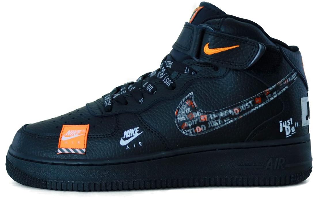 """Мужские кроссовки в стиле Nike Air Force 1Just Do It """"Black"""" ( в стиле Найк )"""