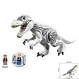 Динозавр лего юрского мира индоминус,тиранозавр рекс+сфера+подарок, фото 5