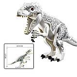 Динозавр лего юрского мира индоминус,тиранозавр рекс+сфера+подарок, фото 9