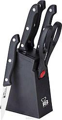Набор кухонных ножей на деревянной подставке 6 пр Renberg RB-8811