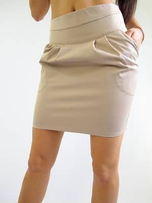 Женская молодежная юбка с карманами
