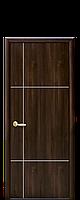 Двери межкомнатные Новый Стиль Ника SILVER (Глухое с гравировкой) ПВХ DeLuxe
