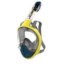 Полнолицевая маска для плавания и снорклинга  TheNice F2 EasyBreath-III с креплением для камеры S/M Желтый