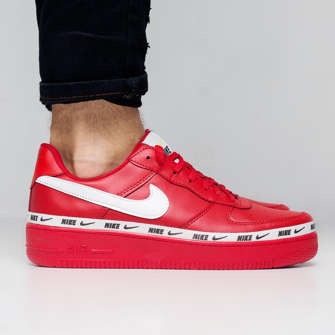 """Мужские кроссовки в стиле Nike Air Force 107 SE Premium """"Red"""" ( в стиле Найк )"""