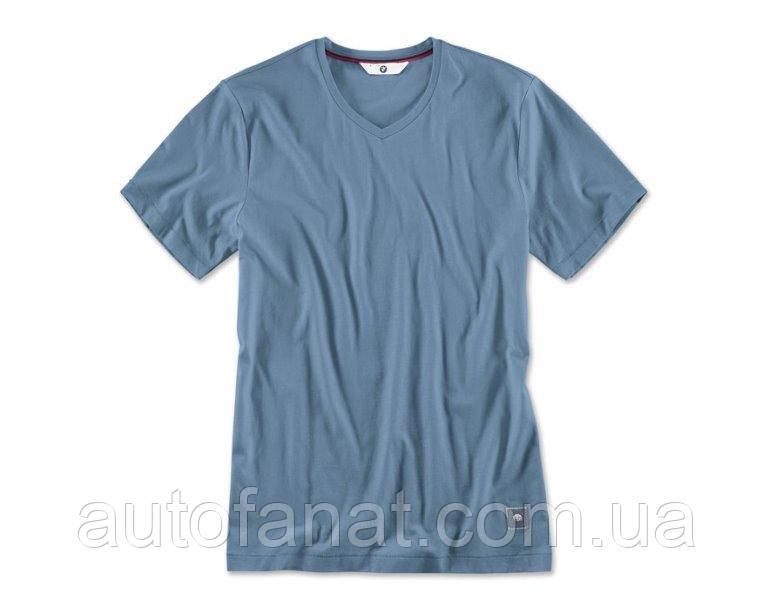 Оригинальная мужская футболка BMW V-Neck T-Shirt, Men, Steel Blue (80142411072)