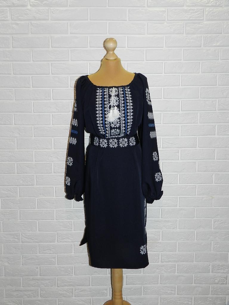 Платье-вышиванка Снежинки 56 р.