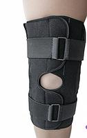 Бандаж ортез на коленный сустав разъемный универсальный черный Размер 1, 2, 3, 4, 5, 6