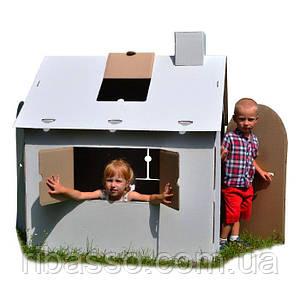 Картонный домик раскраска из 5-ти слойного картона