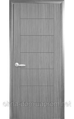 Двери межкомнатные Новый Стиль Рина (Глухое с гравировкой) ПВХ DeLuxe