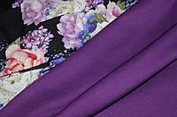 Ткань джерси , цвет слива, фото 1